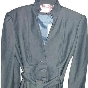 Tailored jacket Larry Levine Bluish Gray sz 4